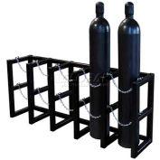 "Cylinder Tube Rack, 5 Wide x 1 Deep, 70""W x 16""D x 30""H,5 Cylinder Cap."