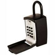 FJM Security KeyGuard Portable Key Storage Lock Box with Shackle SL-501 - Keypad Lock Holds 1-5 Keys