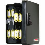 "FJM Security KeyGuard Key Safe Cabinet SL-8548-E Electronic Lock 48 Key Cap 7-3/8"" x 2-7/8"" x 9-7/8"""