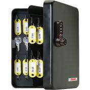 FJM Security KeyGuard Key Cabinet SL-8548-UB 48 Key Cap Black 4-Dial Combo Lock 7-3/8 x 2-7/8 x9-7/8