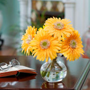 OfficeScapesDirect Gerbera Daisy Silk Flower Arrangement - Yellow