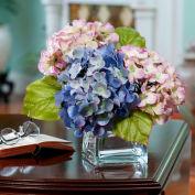 OfficeScapesDirect Hydrangea Silk Flower Arrangement - Lavender/Blue