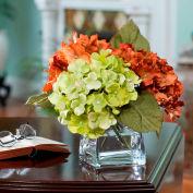 OfficeScapesDirect Hydrangea Silk Flower Arrangement - Rust/Green