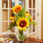 OfficeScapesDirect Sunflower Silk Flower Arrangement - Yellow