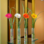 OfficeScapesDirect Gerbera Daisy Bud Vase Silk Flower Arrangement - Set of 4