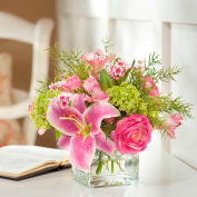 OfficeScapesDirect Rubrum Lily & Viburnum Silk Flower Arrangement