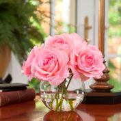 OfficeScapesDirect Rose Nosegay Silk Flower Arrangement - Pink