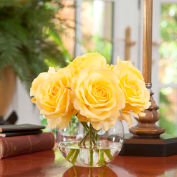 OfficeScapesDirect Rose Nosegay Silk Flower Arrangement - Yellow
