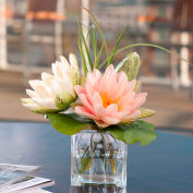 OfficeScapesDirect Lotus Blossom & Lily Pad Silk Flower Arrangement