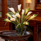 OfficeScapesDirect Calla Lily & Foliage Silk Flower Arrangement - White/Green