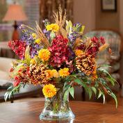 OfficeScapesDirect Fugi Mum & Cone Hydrangea Silk Flower Arrangement