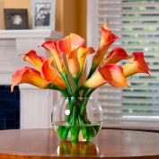 OfficeScapesDirect Calla Lily Centerpiece Silk Flower Arrangement - Orange