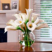 OfficeScapesDirect Calla Lily Centerpiece Silk Flower Arrangement - White