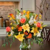 OfficeScapesDirect Lily Rose & Snapdragon Centerpiece Silk Flower Arrangement