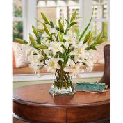 OfficeScapesDirect Junior Lily Centerpiece Silk Flower Arrangement - White