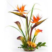 OfficeScapesDirect Bird of Paradise & Calla Lily Silk Flower Arrangement