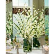 OfficeScapesDirect Oncidium Orchids & Grass Silk Flower Arrangement - White