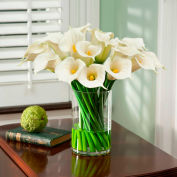 OfficeScapesDirect Calla Lily Extravaganza Silk Flower Arrangement - White