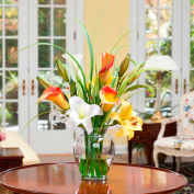 OfficeScapesDirect Calla Lily & Day Lily Silk Flower Arrangement - Yellow/Orange