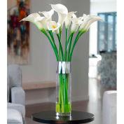 OfficeScapesDirect Long Stem Calla Lilies Silk Flower Arrangement - White