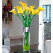OfficeScapesDirect Long Stem Calla Lilies Silk Flower Arrangement - Yellow