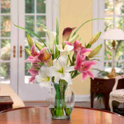 OfficeScapesDirect Calla Lily & Rubrum Lily Silk Flower Arrangement