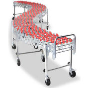 NestaFlex® 22624024N Flexible Conveyor - Poly Skate Wheels - Nylon Bushings 226 Lb. per ft.