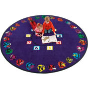 Children Educational Rugs SUPER CIRCLE 6FT Round