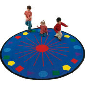 Children Educational Rugs SHAPES GALORE 8 FT Round