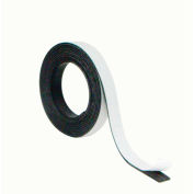 """MasterVision Magnetic Adhesive Tape Roll .5"""" X 7 ft. Black"""