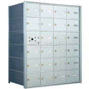 1400 Series Front Loading Horizontal Wall-Mounted Mailbox, 23 Compartments, Anodized Aluminum