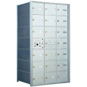1400 Series Front Loading Horizontal Wall-Mounted Mailbox, 20 Compartments, Anodized Aluminum