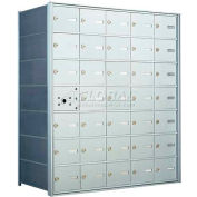 1400 Series Front Loading Horizontal Wall-Mounted Mailbox, 34 Compartments, Anodized Aluminum