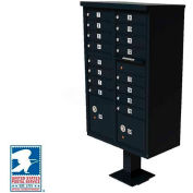 Vital Cluster Box Unit, 16 Mailboxes, 2 Parcel Lockers, Black