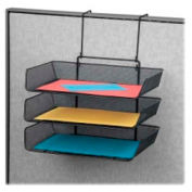 Fellowes Partition/Wall Mountable Triple Side Loading Mesh File Tray Black