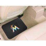 "MLB - Miami Marlins - Heavy Duty Vinyl Utility Mat 14"" x 17"" - 10045"