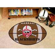 """Nebraska Blackshirts Crossbones Football Rug 22"""" x 35"""""""
