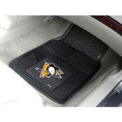 "NHL - Pittsburgh Penguins - Heavy Duty Vinyl 2 Piece Car Mat Set 17""W x 27""L - 10435"