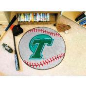 "Tulane Baseball Rug 29"" Dia."