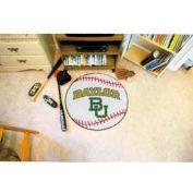"""Baylor Baseball Rug 29"""" Dia."""