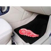 "NHL Detroit Red Wings 2-pc Printed Carpet Car Mats 18"" x 27"""
