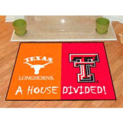 "Texas-Texas Tech House Divided Rug 34"" x 45"""