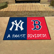 "Fan Mats MLB - New York Yankees/Boston Red Sox House Divided Mat, 33-3/4"" x 42-1/2"" - 12252"