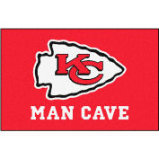 "Fan Mats NFL - Kansas City Chiefs Man Cave Starter Rug 19"" X 30"" - 14321"