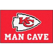 """Fan Mats NFL - Kansas City Chiefs Man Cave Ulti-Mat Rug 60"""" X 96"""" - 14322"""