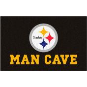 "Fan Mats NFL - Pittsburgh Steelers Man Cave Ulti-Mat Rug 60"" X 96"" - 14358"