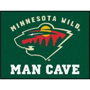 """Fan Mats NHL - Minnesota Wild Man Cave All-Star Mat 34"""" X 45"""" - 14441"""