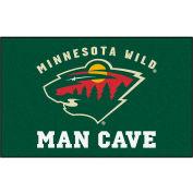 """Fan Mats NHL - Minnesota Wild Man Cave Ulti-Mat Rug 60"""" X 96"""" - 14443"""