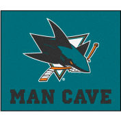 """Fan Mats NHL - San Jose Sharks Man Cave Tailgater Rug 60"""" X 72"""" - 14484"""