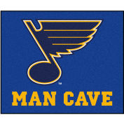 "Fan Mats NHL - St. Louis Blues Man Cave Tailgater Rug 60"" X 72"" - 14488"